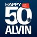 Alvin 50th logo