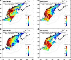 model forecast of spring 2008 harmful algae
