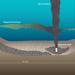 illustration of oil on seafloor