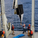 recovering sediment trap at sea
