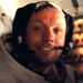 Neil Armstrong in space capsule