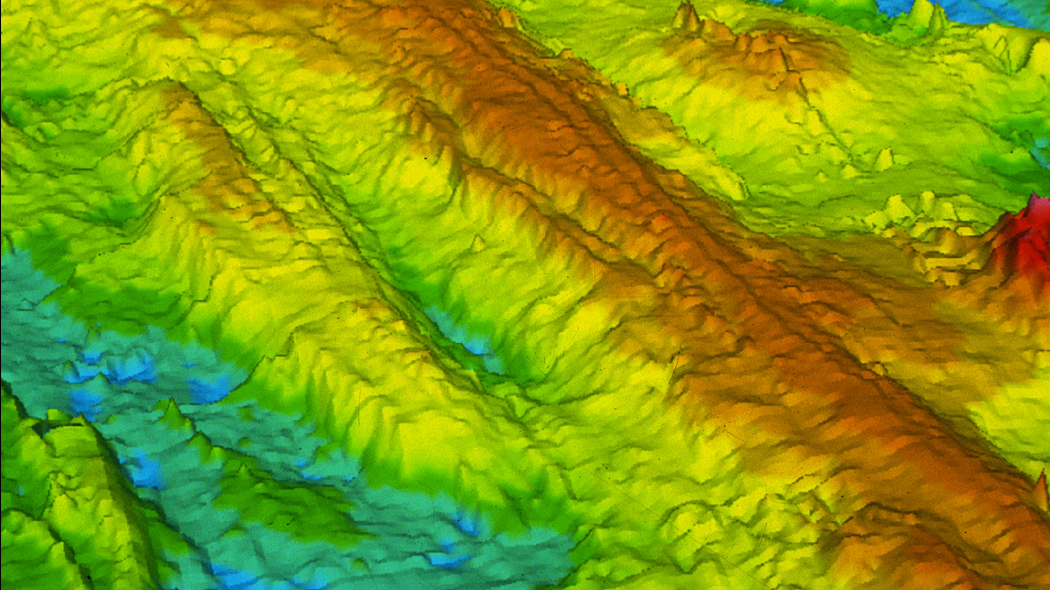 Bathymetric image of the East Pacific Rise