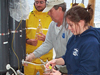 In the chilly South Atlantic aboard the NOAA ship Ronald H. Brown, WHOI graduate student Naomi Levine and colleagues worked around the clock for weeks.