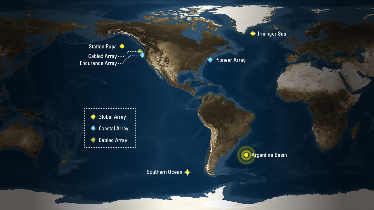Map of Ocean Observatories Initiative.