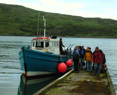 Loch Scresort pier