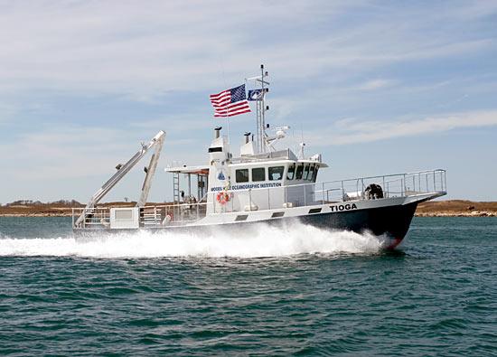 The research vessel Tioga.