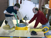 GumbyMoor buoy is being built in the shop by Michael McCarthy and Neil McPhee