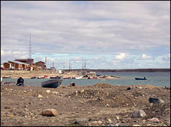 Cambridge Bay waterfront.