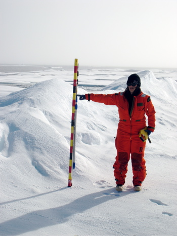 Measuring Ice Height