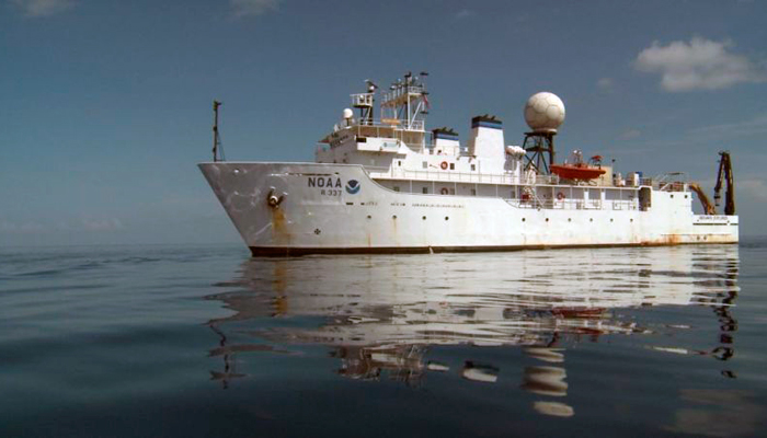 Okeanos Explorer, operated by the National Oceanographic and Atmospheric Administration (NOAA)