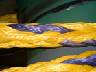 The 12 X 12 braid is comprised of ?primaries? which are stand alone ropes on their own.  This ?rope made with rope? is field repairable.  That is if a strand [primary] is damaged or cut completely, a section of strand can be removed and replaced in such a way to be fully load bearing.