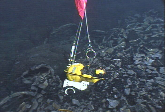 An eruption that covered 9 square miles of seafloor with lava at the East Pacific Rise trapped three ocean-bottom seismometers.