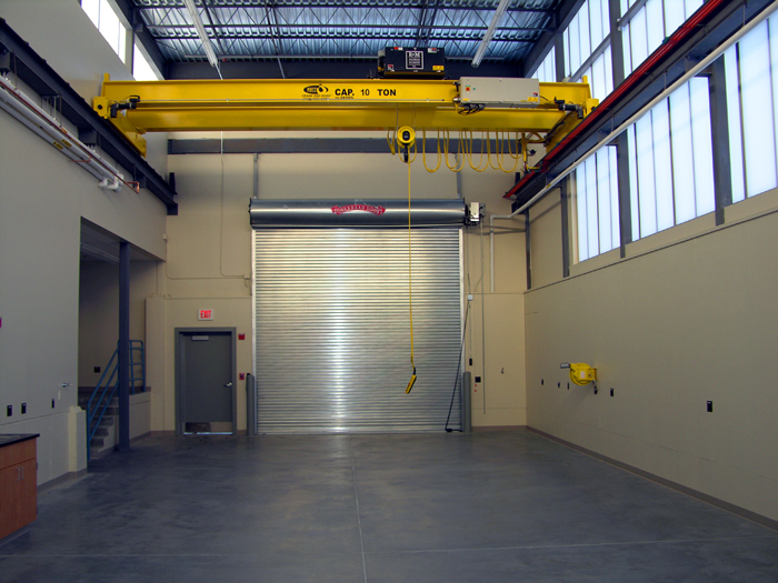 The new addition also has two spaces dedicated to the support of Long Core operations.  A high-bay with a 10 ton overhead bridge crane and a special workshop and tool room are adjacent to the new storage facility.