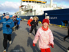 irminger sea cruise, children send off the ship