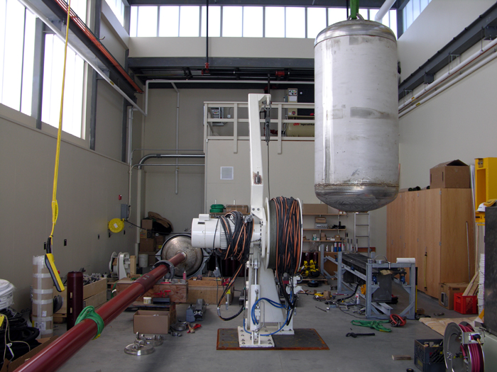 Long Core equipment was staged, fabricated and tested in the Hi-bay.