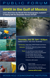 Public Forum: WHOI in the Gulf