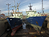 Knor and Atlantis in drydock