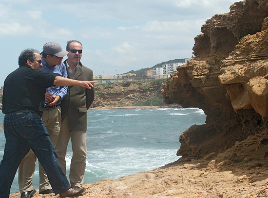 Jian Lin and colleagues examine geological evidence of past earthquakes near the Mediterranean coast of Algeria.