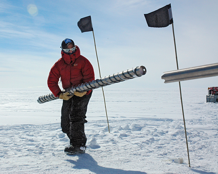 Ice coring in Antarctica