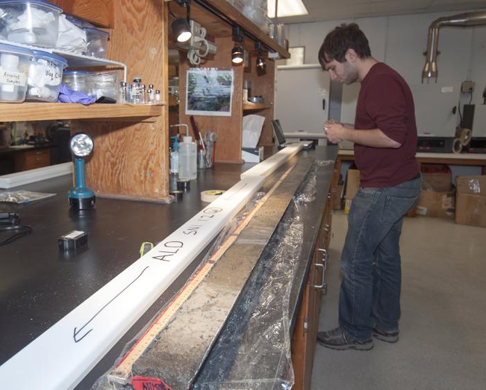 Post-Sandy core samples