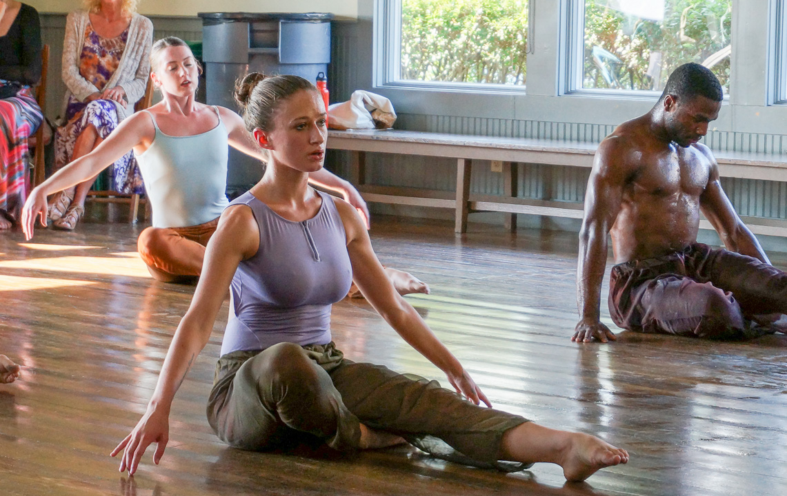 Dancers Maggie Foster, Nina Brindamour and Toni Tucker in Woods Hole