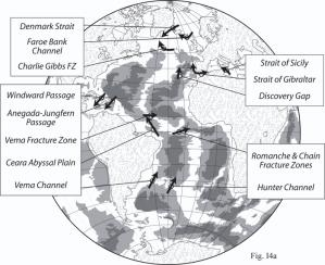 image of locations of major Sills in North Atlantic Ocean