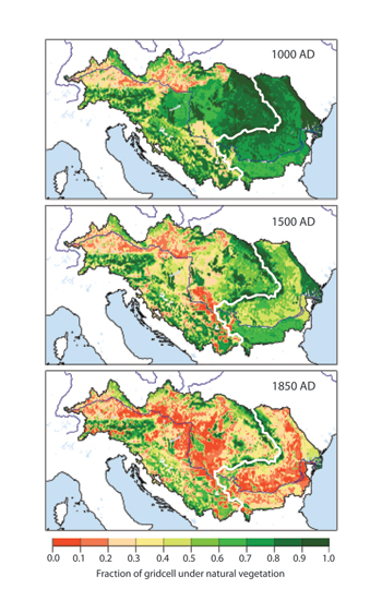stages of deforestation of Eastern Europe