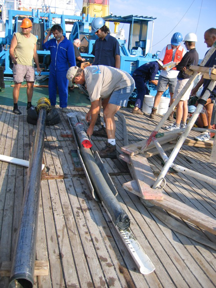 coring on the ship