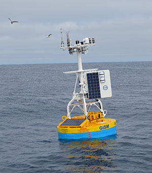 OOI's Global Suface Buoy deployed in the Irminger Sea Array.