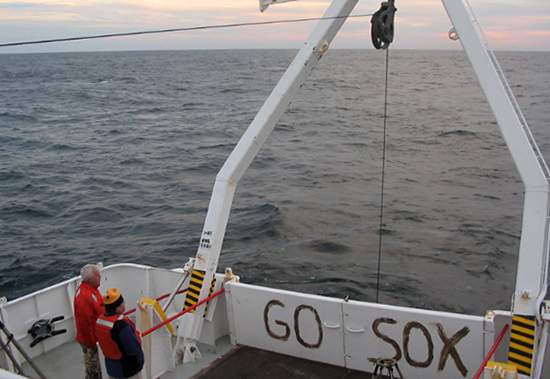 R/V Cape Hatteras in the Gulf of Maine in 2004 during the 2007 World Series.