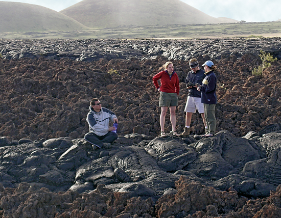Students take part in studies of the formation and active volcanism on the Big Island of Hawaii.