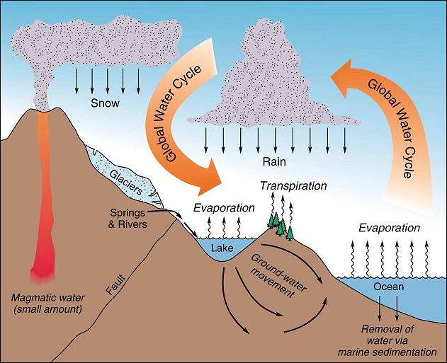 Most depicitons of the global water cycle downplay the ocean's importance