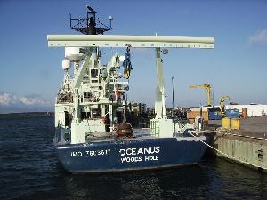 R/V Oceanus in Early Morning Sun