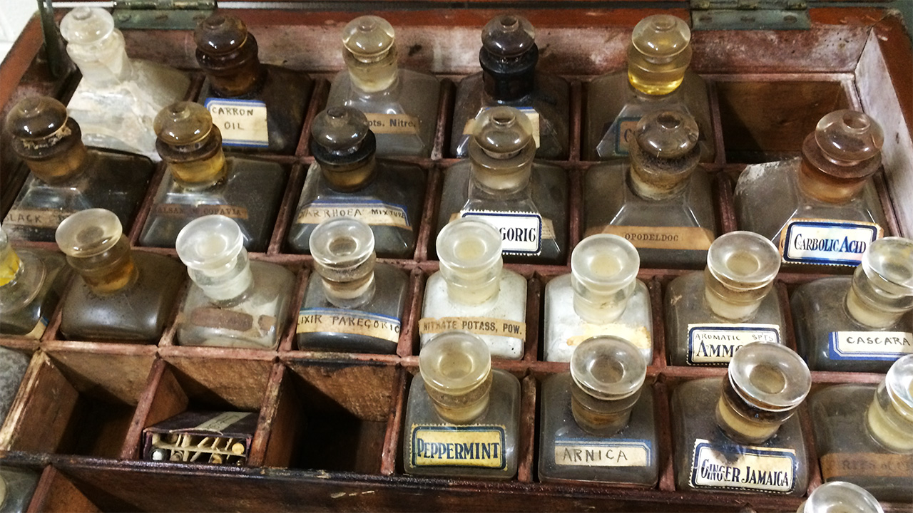 Antique medicine chest from the original Atlantis.
