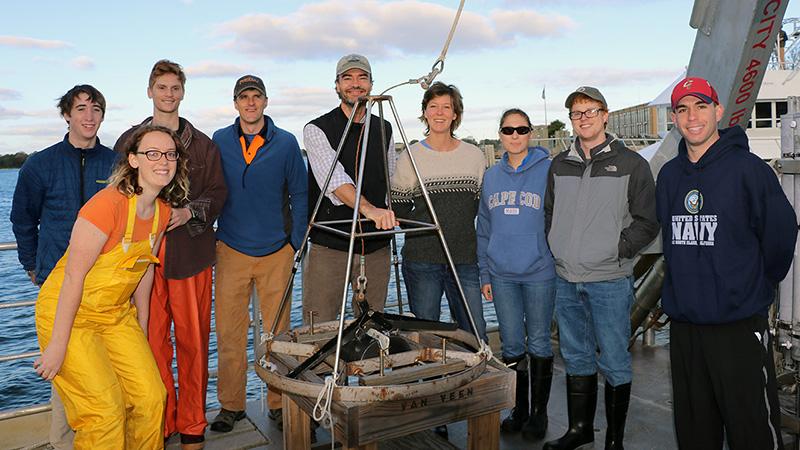 Oceanography class trip on Tioga