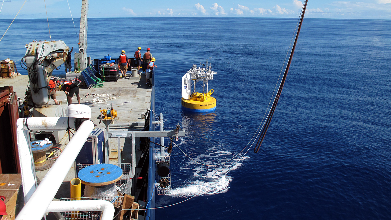 Buoy launched in the SPURS-2 project.