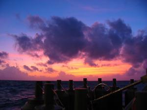 CTD Sunset on Oceanus
