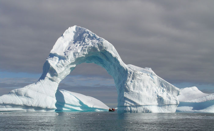 Ice Bridge in the Antarctic.