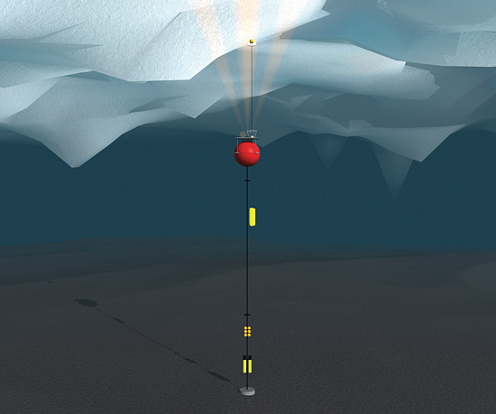 Engineers and scientists at Woods Hole Oceanographic Institution developed the Arctic Winch to reach up and take critical measurements of surface waters in polar oceans.