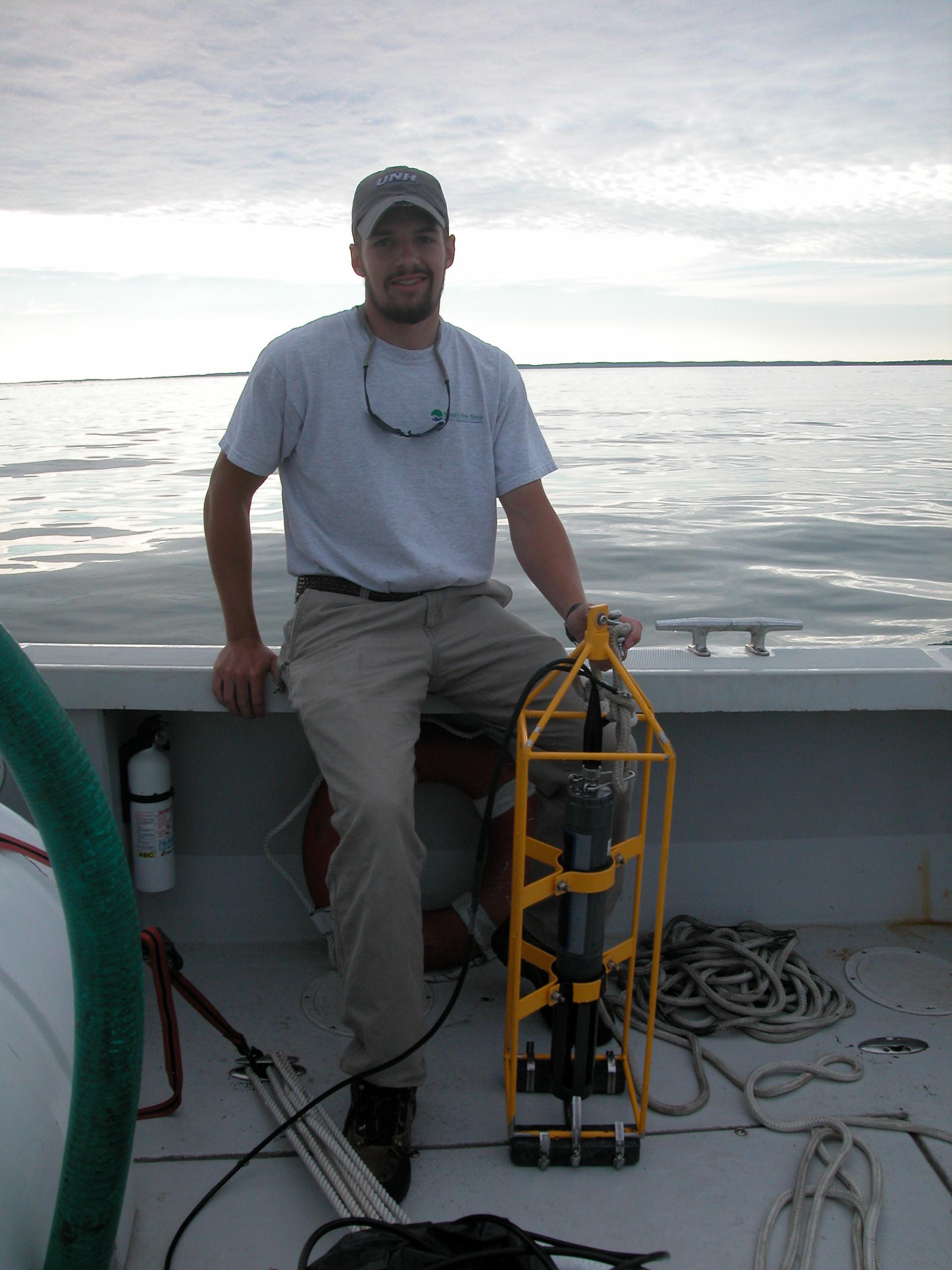 Jon Fincke aboard Baykeeper
