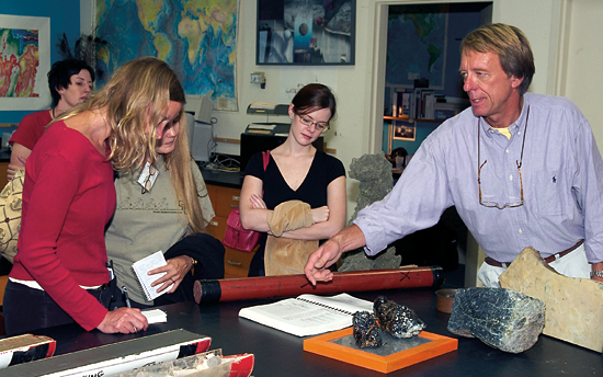 Jim Broda with Ocean Science Journalism Fellows