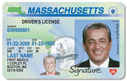 example of a Massachusetts driver's license
