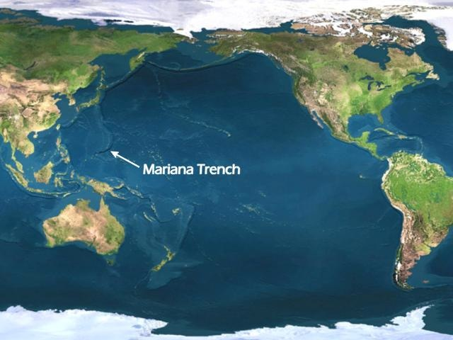 Location of the Mariana Trench.