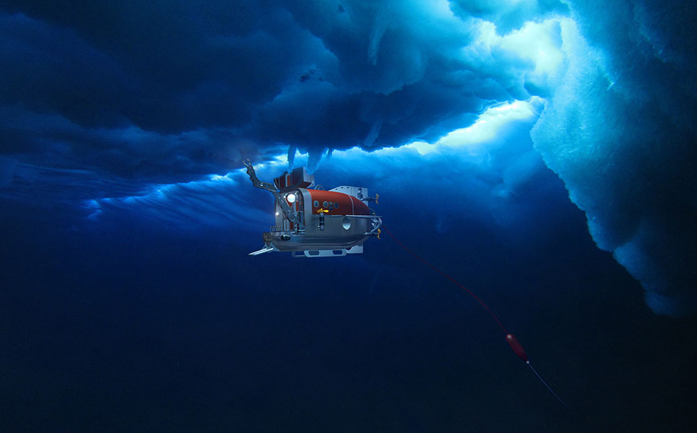 A rendering of NUI working on the ice underside.  Manipulator integration is underway with an expected completion date of March 2016.