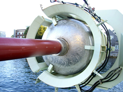 The new long core at the WHOI dock, August 2007.