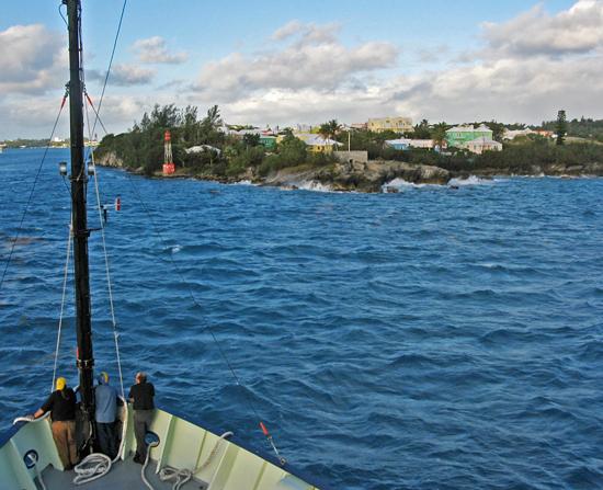 arriving at st. george, bermuda