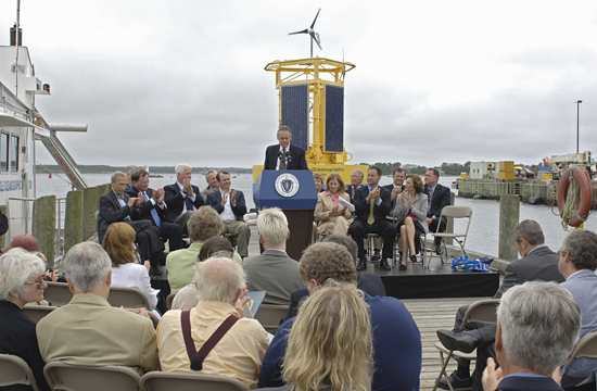 Ocean Observatories Initiative press conference at WHOI.