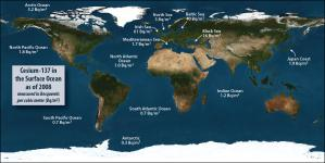 background level of radiation in oceans and seas
