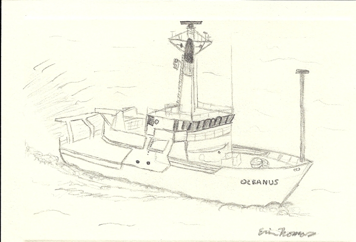 Drawing of Oceanus by Erin Thomas
