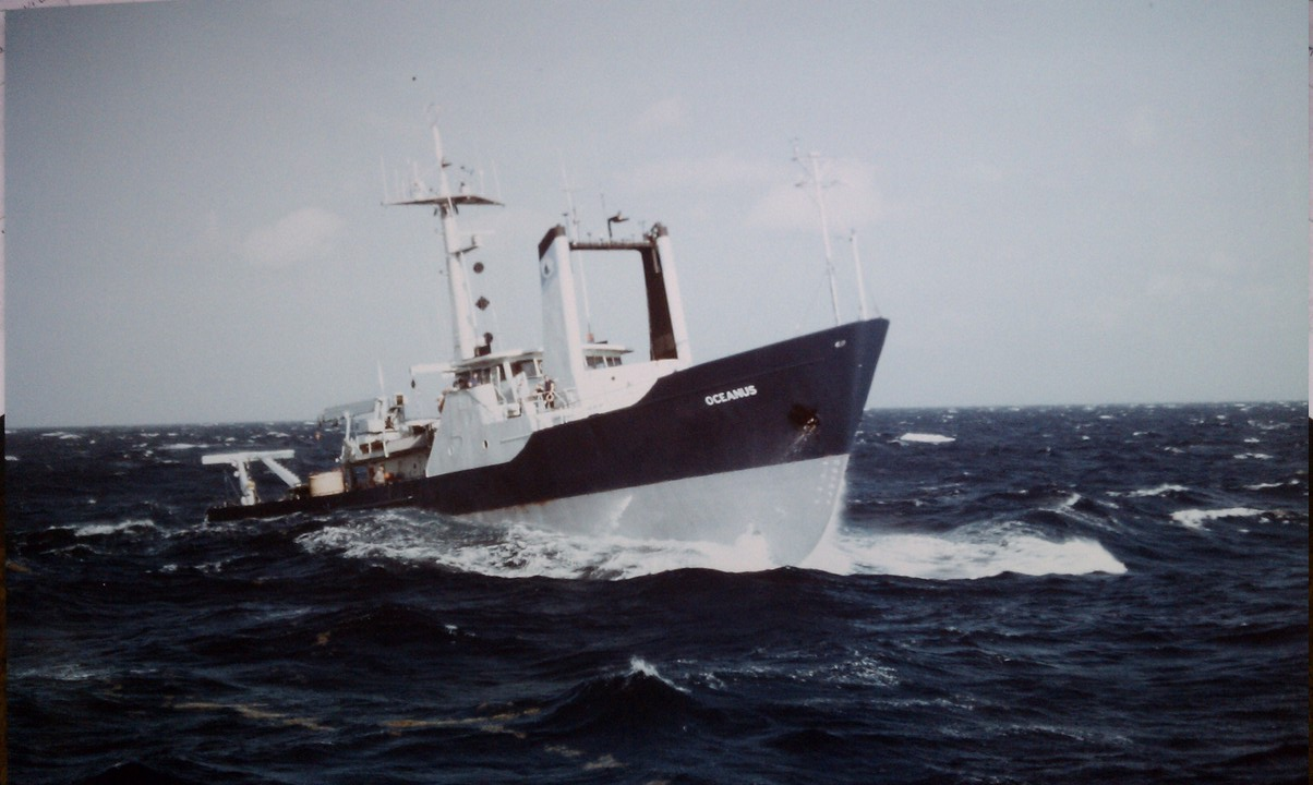 R/V Oceanus, Viewed from R/V Endeavor, 1986